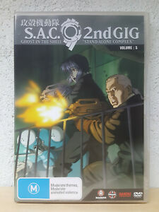 Ghost In The Shell Stand DVD STAND Alone Complex 2nd Gig Volume 5 - RARE MADMAN