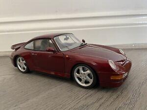 UT Models 1/18 Scale Diecast - 180 066070 Porsche 911 Turbo 1997 Red Metallic