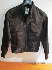 G-Star Raw Black Atlas Bomber Flight Jacket Men's Size Small