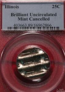 Illinois Brilliant Uncirculated Mint Cancelled Quarter