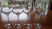Clear Glass Wine Glasses Stems Tall elegant plain stem claret wine glasses 4 12o