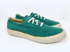 Vtg Keds Tennis Shoes Canvas Cotton Lace up Oxford Green 80s 90s Women's Size 8