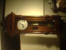 ANTIQUE  1 WEIGHT VIENNA REGULATOR WALL CLOCK BEAUTIFUL CASE,RUNS MUST SEE
