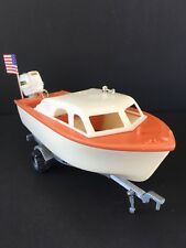Fleetline Viking Toy Boat W/Johnson Outboard Motor And Trailer