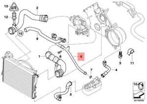 Genuine BMW E38 E39 Sedan Cooling System Coolant Return Pipe OEM 11531711384