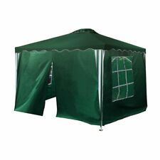 ALEKO Gazebo Canopy 4 Sidewalls  for Outdoor Events 10x10 in Green Color