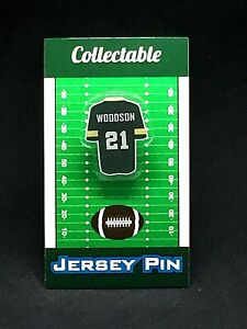 Green Bay Packers Charles Woodson jersey lapel pin-Classic throwback Collectable