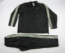 Vintage 90s Adidas Mens XL 3 Stripes Spell Out Nylon Track Suit Jacket Pants