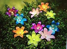 LED Lichterkette Livia Metallblüten Deko Blütenkette Blumenkette Warmweiß NEU
