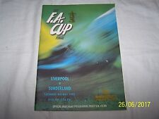 F A Cup Final ~ Liverpool v Sunderland ~  9th May 1992