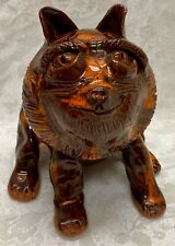 Claude Miller, Ram Pottery, N. C. Folk Art Pottery, Figural Lion
