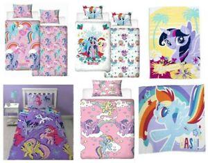 My Little Pony Merchandise Duvet Cover Set Blanket Towel Curtains Kids Bedding