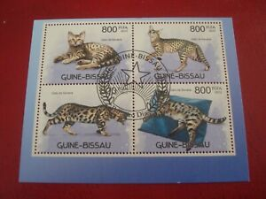 GUINEA-BISSAU - 2012 CATS - MINISHEET - UNMOUNTED USED SOUVENIR MINIATURE SHEET