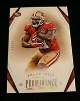 A6 2013 Panini Prominence Platinum/99 #88 Frank Gore San Francisco 49ers Card