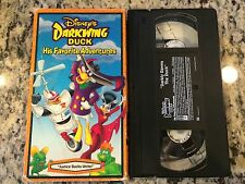 LOT OF 2 RARE OOP DARKWING DUCK VHS TAPES w/WRONG COVERS! CARTOON ANIMATION FUN!