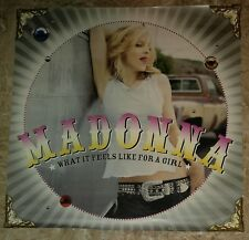 """2001 MADONNA What it Feels Like For A Girl 24x24"""" Promo Poster FN 6.0"""
