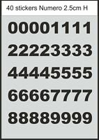 Numero Number immatriculation bateau chiffre - Stickers adhésifs décal