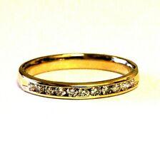 14k yellow gold .33ct SI1 G round diamond channel set wedding band 2.6g estate