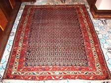 ANTIQUE ORIENTAL CARPET ALL OVER BOTEH DESIGN DEEP REDS 6X5 FEET ESTATE RUG