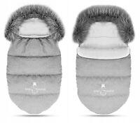 Baby Footmuff Collar Stroller Pushchair Sleeping Snowman Light Grey/Grey