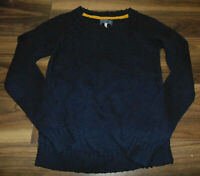 Joules Womens Jumper Navy Blue Cable Knit WOOL BLEND Warm Autumn Winter Size 8