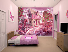 """Prepasted Wall Mural Foto Wall Decor Candy Theme wallpaper  82.7"""" X 55.5"""" BZ424"""