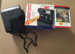 Polaroid One Step Camera  w/ Box & Manual