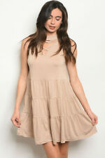 SHE + SKY~NEW WITH TAGS IN PACKAGE~WOMENS SIZE SMALL TAUPE DRESS