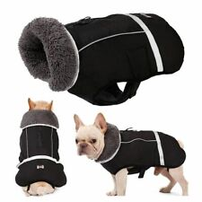 Pet Jacket Clothes Waterproof Outdoor Thicken Coat Adjustable Nylon Unisex Solid
