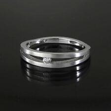 Silberring 925/- rhodiniert mit Brillant 0,04ct.