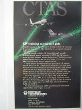 2/1990 PUB CHRYSLER TECHNOLOGIES EW TRAINING US NAVY EC-24A NKC-135A ORIGINAL AD