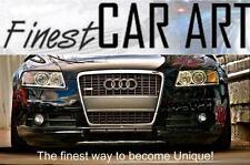 Audi A6 4F S-Line US Kennzeichen Blende Frontblende Grau Chromstreifen ohne PDC