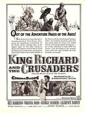 "1954 Rex Harrison ""King Richard and the Crusaders"" Movie promo print ad"