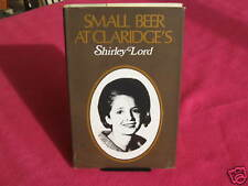 SMALL BEER At CLARIDGE'S ~ Shirley Lord. 1969 sc  Biog  RAGS to RICHES   in MELB