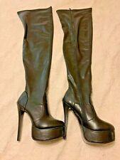 Women's black Thigh High Platform  boots  Size 44/13 US