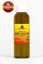 HEMP SEED OIL UNREFINED ORGANIC by H&B Oils Center COLD PRESSED PURE 2 OZ