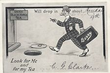 Black Horse Tea Berry Australia calling card postcard by C.G Clarke, popular
