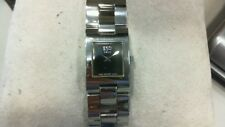 New ESQ by Movado Ladies Stainless Wrist Watch Tank Style Black Dial #07100640
