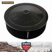 """Aeroflow Black Air Cleaner Assembly 14"""" x 4"""" with Drop Base & Washable Filter"""