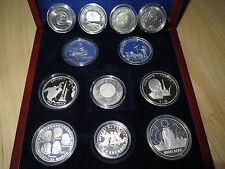 12 Space coins, Niue, Solomon, Tonga, Bulgaria, Liberia, Germany! Moon, Saturn 5