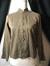 EILEEN FISHER 100% silk Button Down Shirt/Top Sz PP NWT MSRP $208