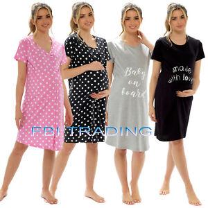 ladies nightshirts WOMENS night shirt nightie pyjamas pjs nightwear Maternity