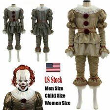Movie It: Chapter Two Pennywise Cosplay Costume Clown Halloween Without Mask