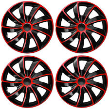 4x14'' Wheel trims fit VW Volkswagen Polo Golf Fox Lupo - 14''  red/black