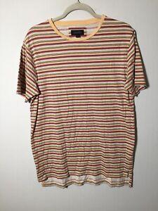 Zanerobe mens multicolour striped t shirt size L short sleeve cotton good condt