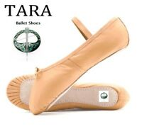 Pink Ballet Shoes Child and Adult Sizes. Full leather Sole. Soft inside