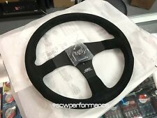 GENUINE MUGEN GEN 3 350MM STEERING WHEEL JDM SUEDE BLACK CENTER RARE MOMO