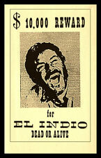 For a Few Dollars More Fridge Magnet 6x9 Magnetic El Indio Wanted Poster