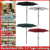 270cm Sonnenschirm Ampelschirm Kurbel Marktschirm Garten Wasserabweisend 2.7m