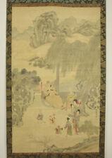 """Museum Japanese scroll: """"Tang general Guo Ziyi"""", by RYURIKYO 柳里恭/ (1704-1758)"""